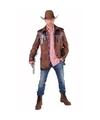 Bruine cowboy jas voor heren