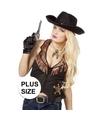 Grote maat cowboy vest voor dames