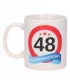 Beker / mok 48 jaar verkeersbord