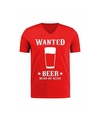 Verkleed cowboy shirt Wanted Beer voor heren